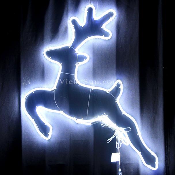 66CM High Density LED White Reindeer Christmas Lights
