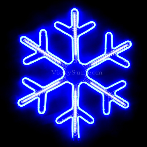 62CM High Density LED Neon Blue Snowflake Christmas Motif Lights