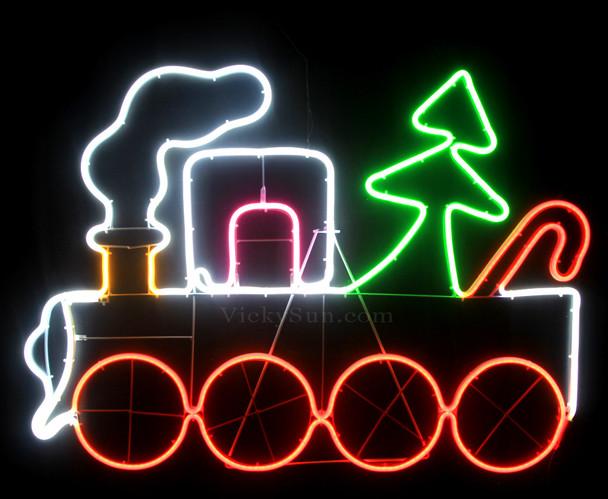 94CM LED Neon Christmas Train Lights