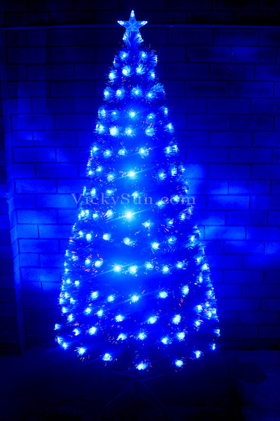 180CM White Christmas Tree with LED Blue Lights Synced to Music
