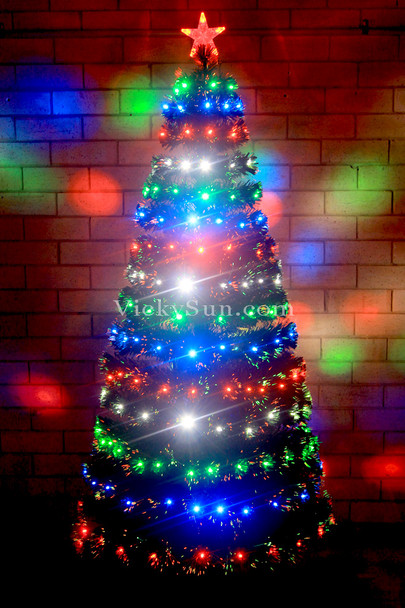 180CM Green Christmas Tree with Multi Colour LED Lights