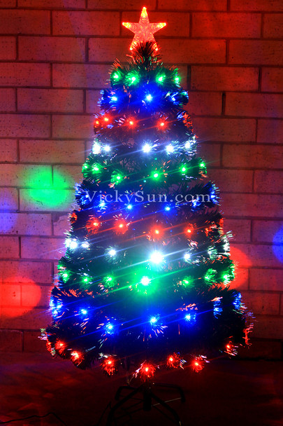 120CM Green Christmas Tree with Multi Colour LED Lights