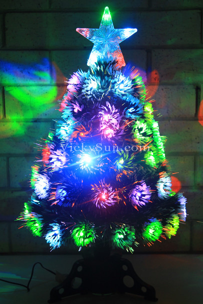 60CM Snowy Christmas Tree with Multi Colours LED Lights