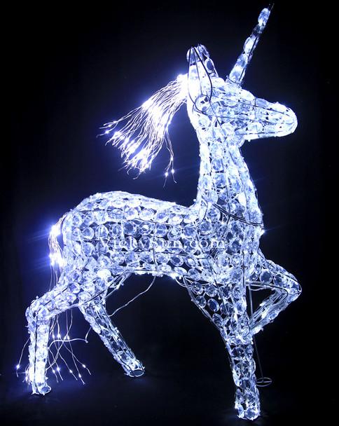 88CM 3D LED White Acrylic Beads Unicorn Christmas Lights