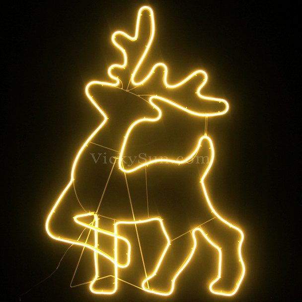 98CM LED Warm White Neon Head Up Reindeer Motif Lights