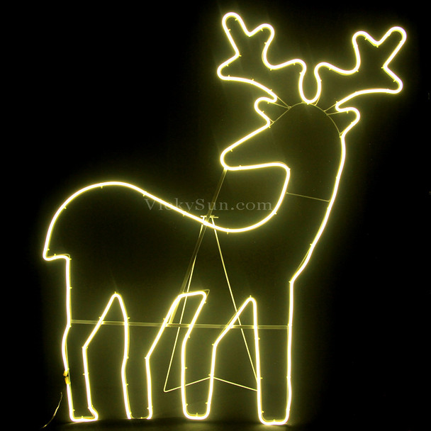 111CM LED Warm White Neon Looking Back Reindeer Motif Lights