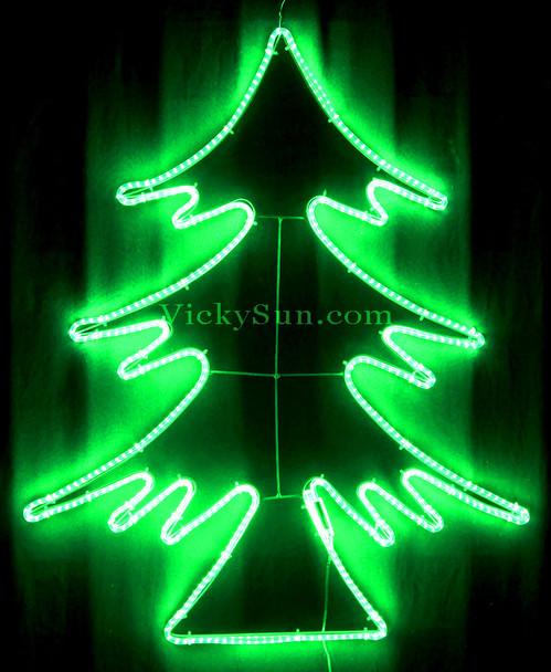 79CM High Density LED Green Neon Christmas Tree Lights