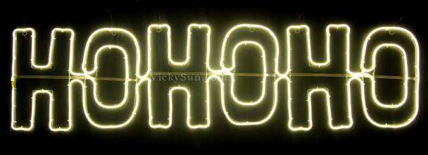 150CM LED Neon Warm White HO HO HO Christmas Motif Lights