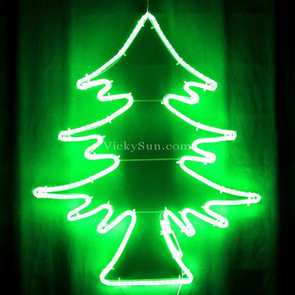52CM High Density LED Green Neon Christmas Tree Lights