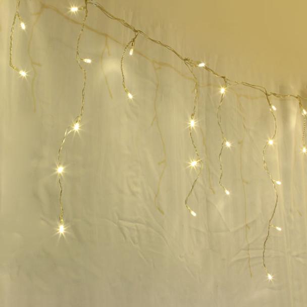 500 LED Warm White Christmas Icicle Lights