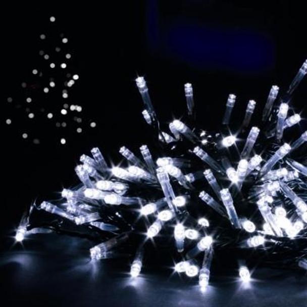 14M 200 LED White Christmas Fairy Lights