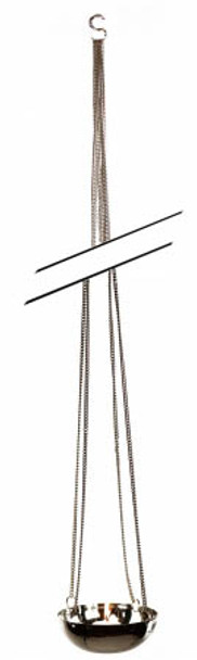 1M Hanging Curb Chain Stainless Steel Tea Candle Holder