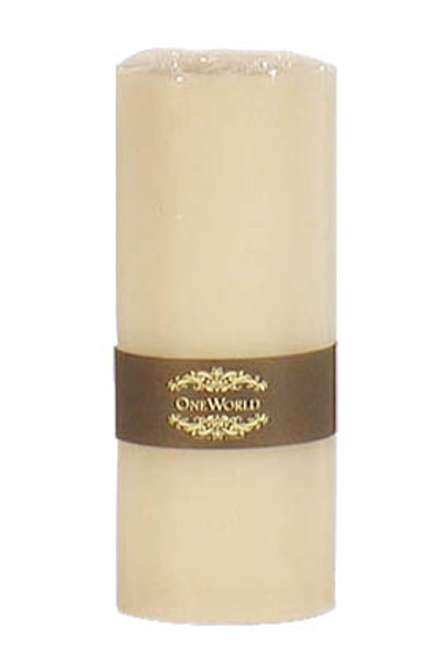 """Pillar Round Candles Ivory Unscented 3""""x 7"""""""