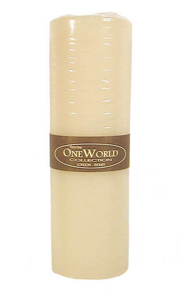"""Pillar Round Candles Ivory Unscented 3""""x 9"""""""