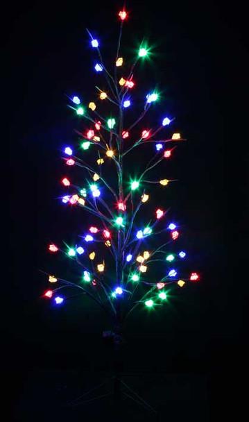LED Multi Colours Brown Christmas Bare Tree