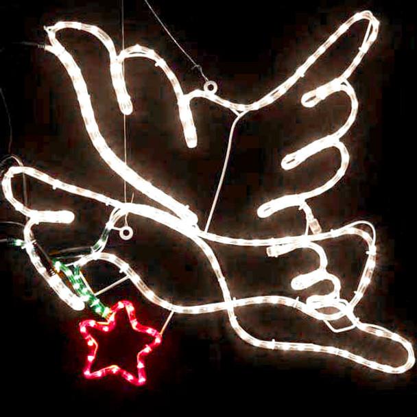 Animated 70CM LED Christmas Dove Motif Rope Lights (36V Safe Voltage)