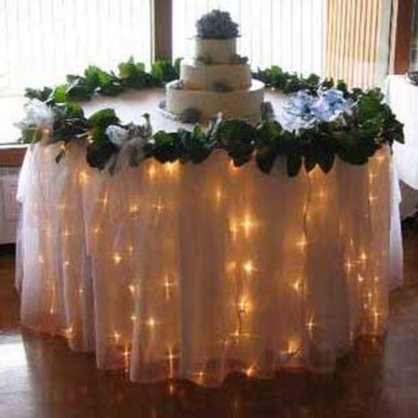 180 LED Table Curtain Warm White Lights