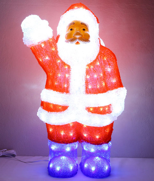 60CM 3D Acrylic Santa with 200 White LED Christmas Lights