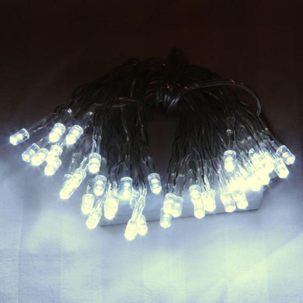 6M 60 LED White Battery Fairy Lights