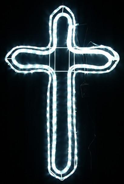 97CM LED White Cross Christmas Motif Rope Lights