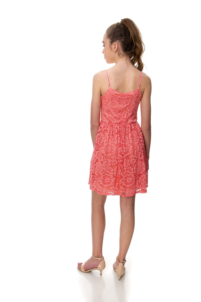 Shop the best selection of UDT Sale with the Tween Girls Coral Lace Dress