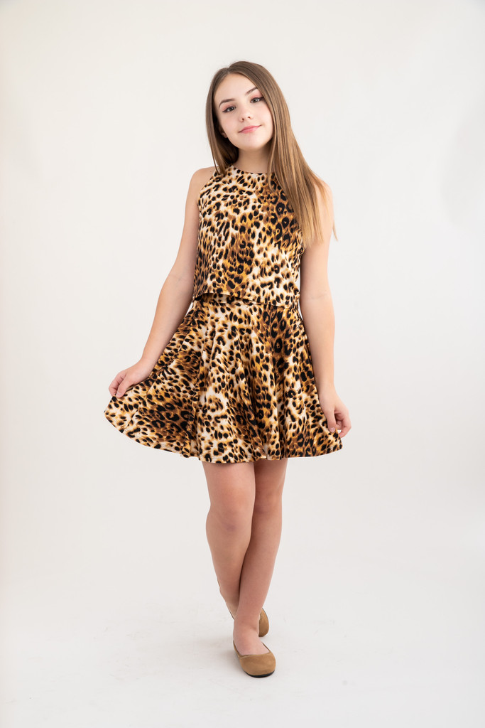 Cheetah Skater Skirt