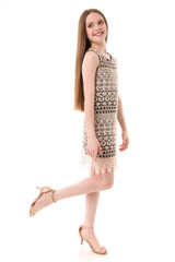 Black and Ivory Lace Shift Dress