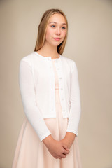 Button Up Cardigan in Ivory