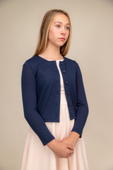 Button Up Cardigan in Navy.
