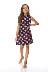 The Sale Tween Girls Floral A Line Dress is a conservative style for any girl.