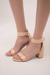 Tween Girls Nude Chunky Heel