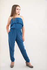 Bluestorm Solid Tiered Jumpsuit.