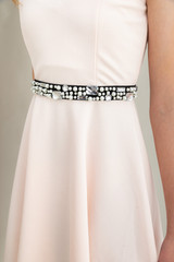 Tween Girls Navy Pearl and Gem Belt.