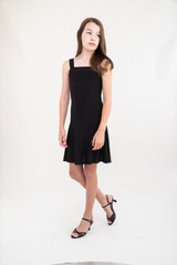 Black Skater Dress in Longer Length.