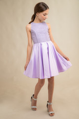 Lilac Sequin Racer Back Dress in Longer Length.