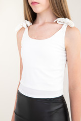 Ivory Knotted Tank Top