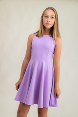 Lilac Racer Back Dress in Longer Length.