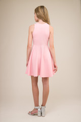 Light Pink Racer Back Dress in Longer Length back.