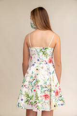 Floral Fit and Flare Dress in a longer Length