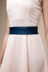 Navy Satin Belt