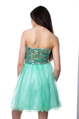 Mint Sequin and Tulle Dress.