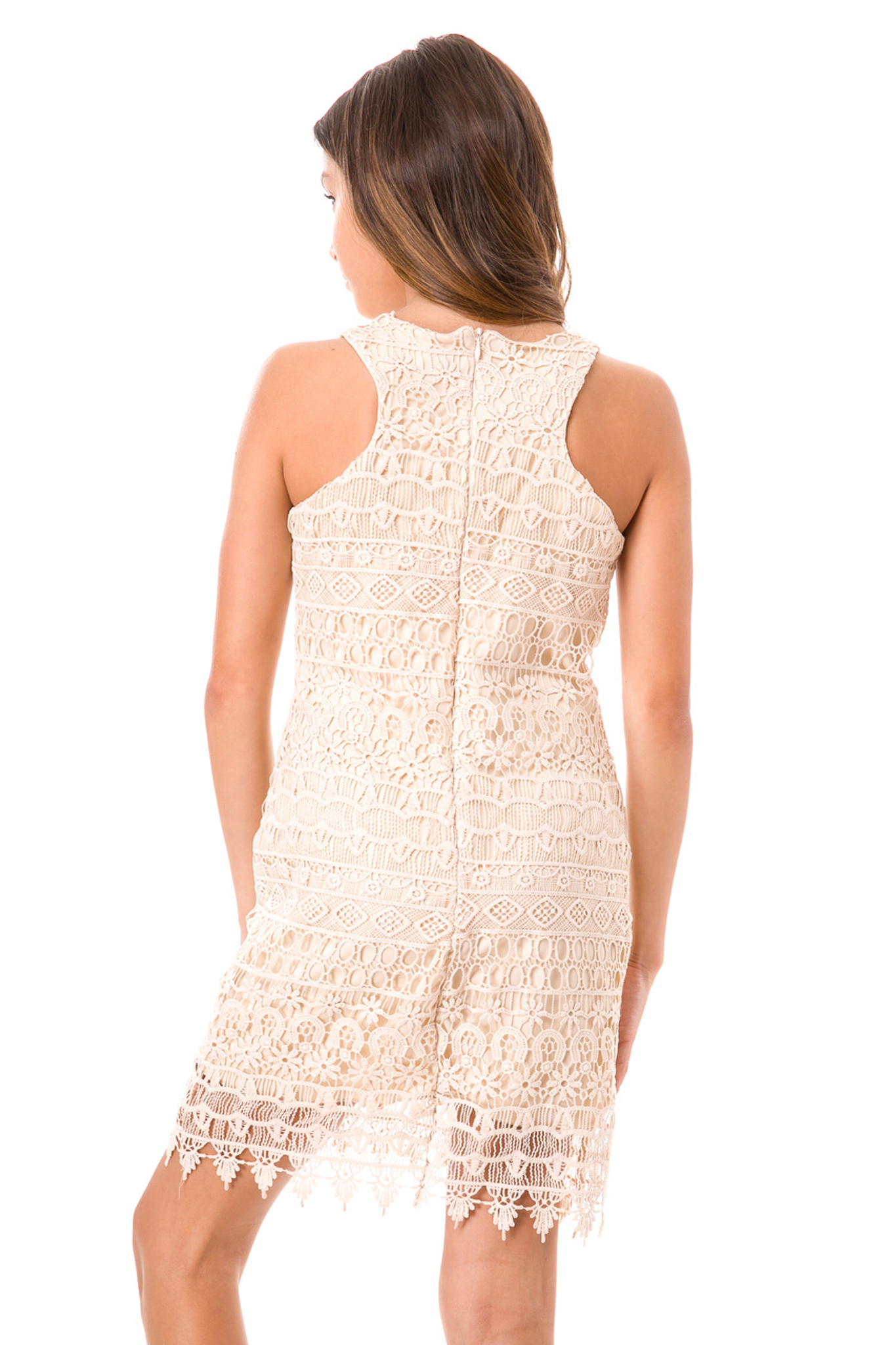 Tween Girls 7-16 Ivory Lace Shift Dress