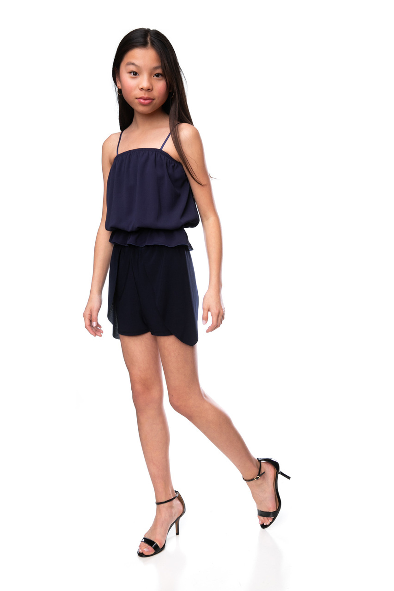 Tween Girls Navy Tulip Shorts