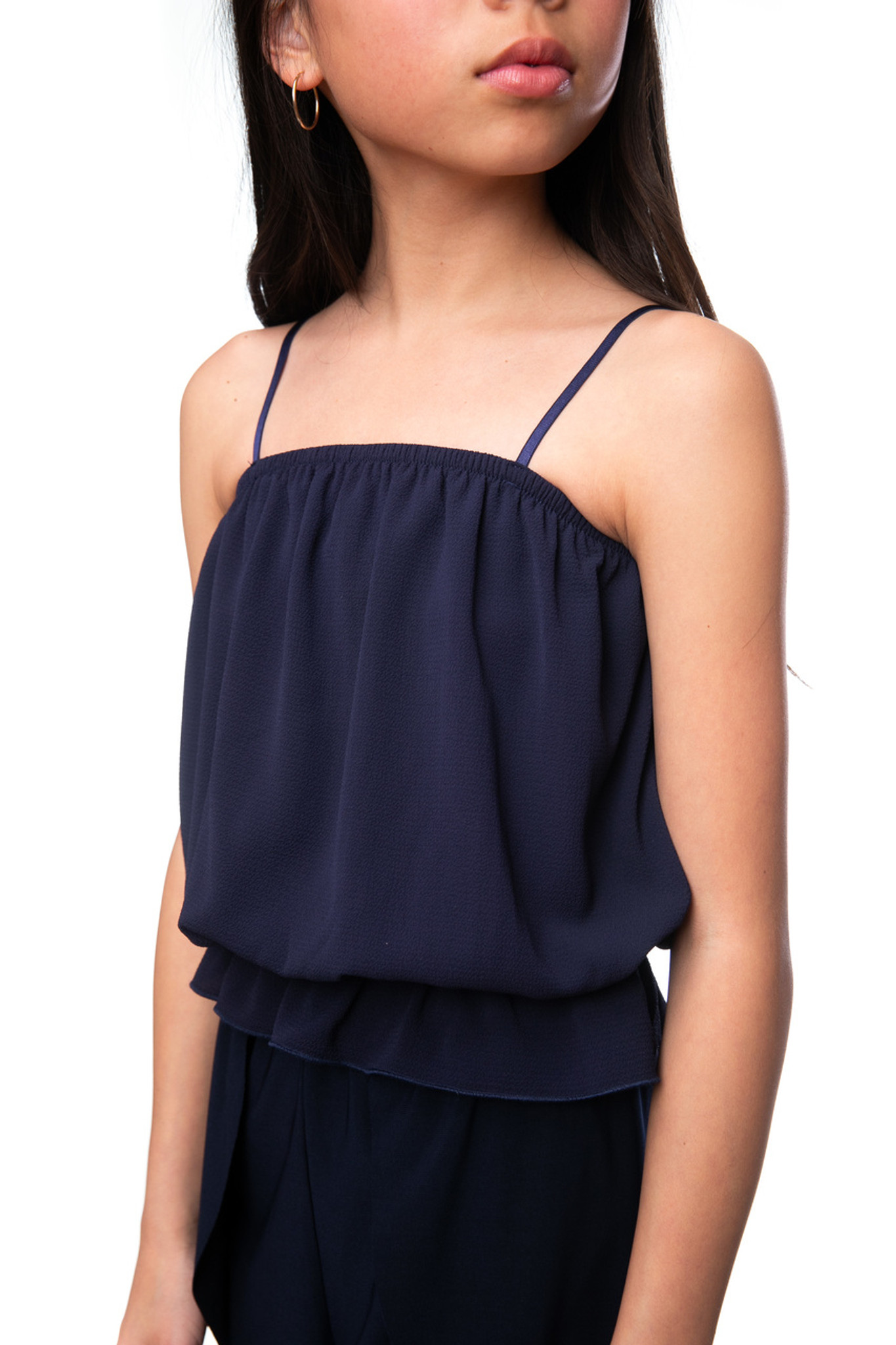 Tween Girls Navy Spaghetti Strap Top