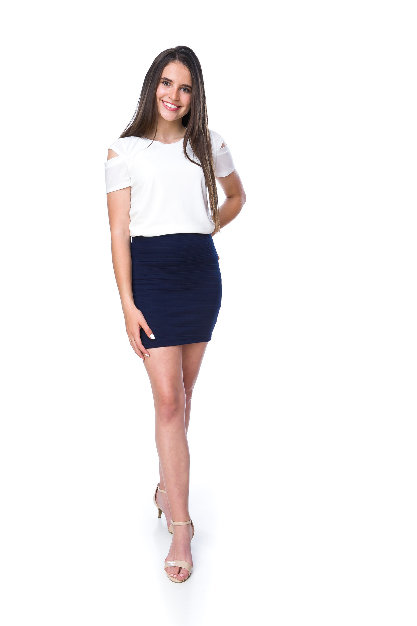 Shop the latest Tween Girls Pencil Skirts in Navy Stripe for all those parties, events and religious services.