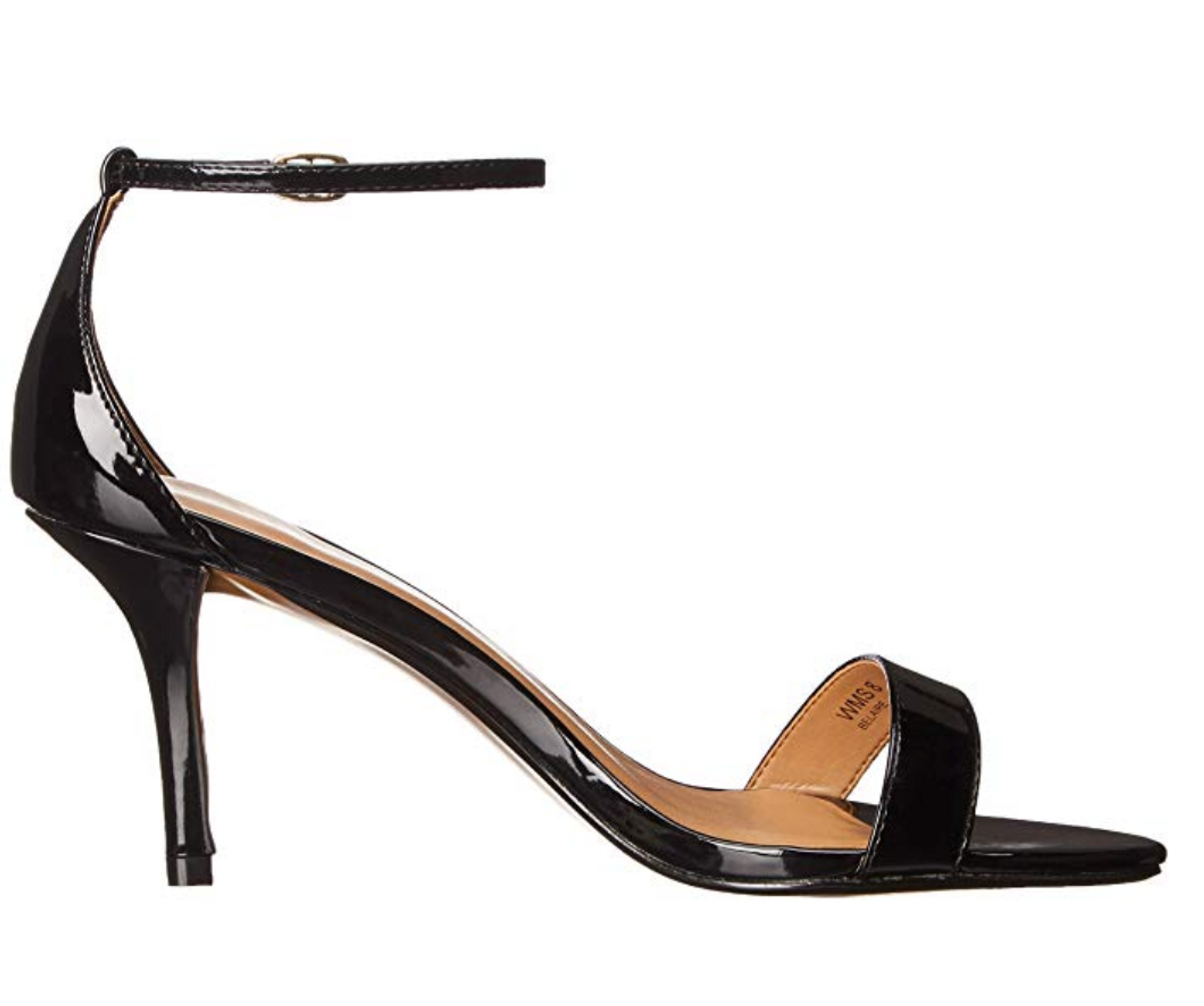 Report Belaire Heel in Black Patent other side view.