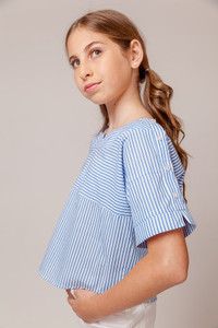 Dolman Top with Button Up Shoulder