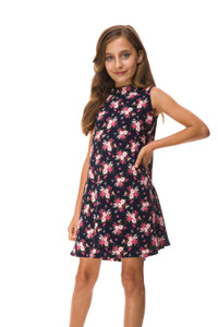 Close up of the Sale Tween Girls Floral A Line Dress