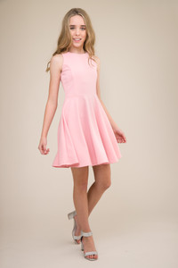 Light Pink Racer Back Dress in Longer Length.