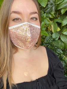 Party Face Mask in Sequins.
